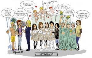 CARNESTOLTES A GA: LOVE IS IN THE AIR…. Podia ser d'altra manera…? Nota: il·lustració cortesia de Miguel Ángel Sepúlveda, dibuixant de còmics professional i exalumne: http://marvel.com/comics/creators/9123/miguel_angel_sepulveda